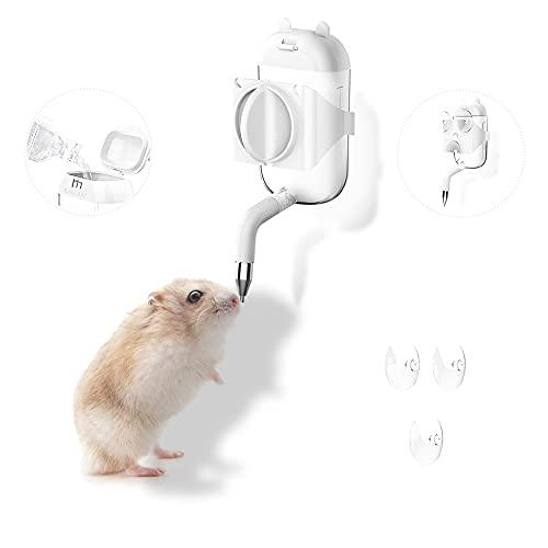 Marchul Hamster Wasserspender, Trinkflasche für Nagetiere, Von Oben befüllbar, Transparent Nager Trinkflasche, 100ml