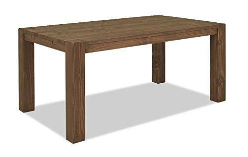 Esstisch 160x90cm Rio Bonito Farbton Cognac braun Pinie Massivholz, geölt und gewachst, Tisch, Optional: passende Bänke 140x38cm oder 160x38cm und 2er- Set Ansteckplatten 50x90cm