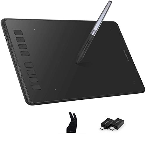 HUION Inspiroy H950P Graphics Tablet, Battery-free Pen with ±60° Tilt Function, Graphic Drawing Tablet for Mac Windows Android, Ideal Drawing Pad for Work from Home & Remote Learning
