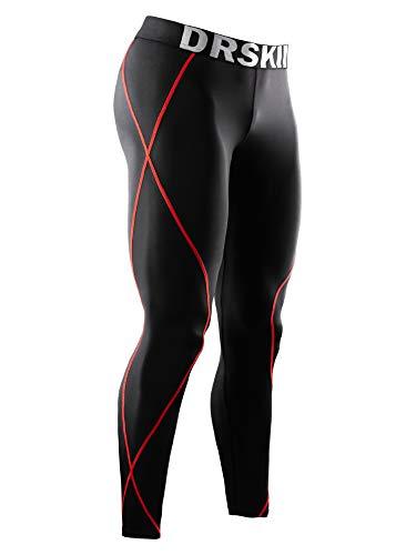 DRSKIN Compression Cool Dry Sports Tights Pants Baselayer Running Leggings Yoga Rashguard Men (M, DB04)