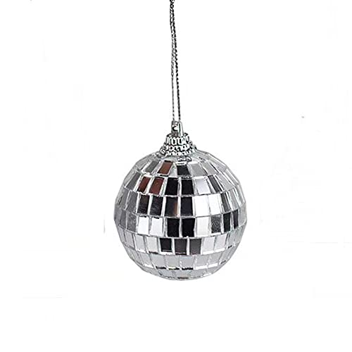 Nicejoy Christmas Tree Ornament 5cm Mini Disco Mirror Christmas Ball Ornaments Hanging Balls Decoration for Holiday Party Decor.