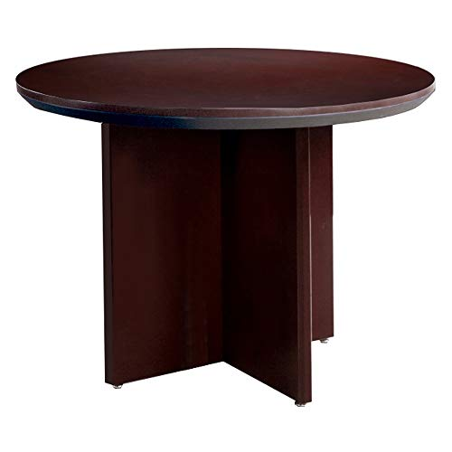 Mayline Group Conference Tables (Round) Mahogany Veneer