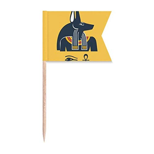 """Beauty Gift Antikes Ã""""gypten Abstraktes Dekorationsmuster Markierung für die Kennzeichnung von Zahnstocher-Flaggen"""