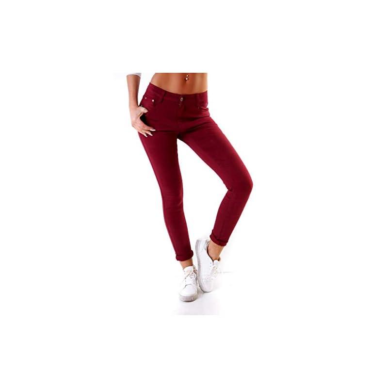 Fashion4Young 4345 Damen Hose Röhre Skinny