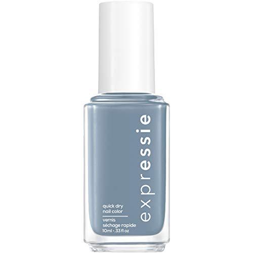 essie expressie Quick-Dry Vegan Nail Polish, Air Dry, Slate Blue, 0.33 Ounce