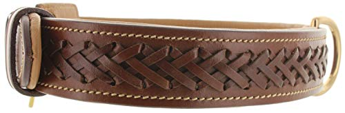 Viosi Leather Dog Collar for Large Medium Small...
