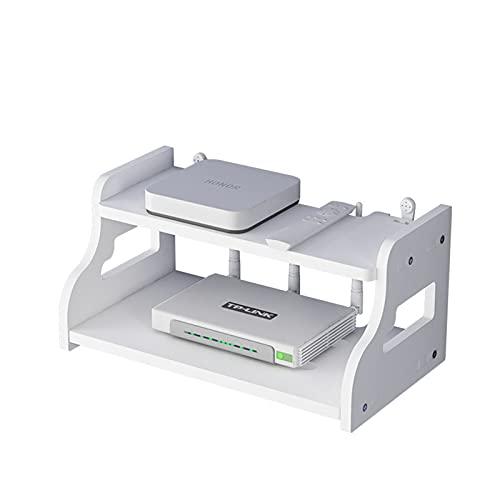 XLBHSH Caja de Almacenamiento de Enrutador, Soporte de Enrutador, Estante Montado en La Pared, Decodificador de TV Sin Perforaciones,A,300 * 200 * 140mm