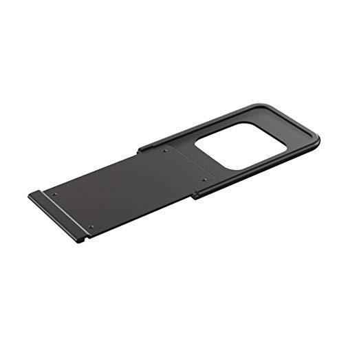 Cubierta de cámara Web de Metal D1 Cubierta de cámara Web Ultrafina Protección de privacidad Etiqueta de Obturador para teléfono Inteligente, Tableta, computadora portátil, Escritorio (Black1Pc)