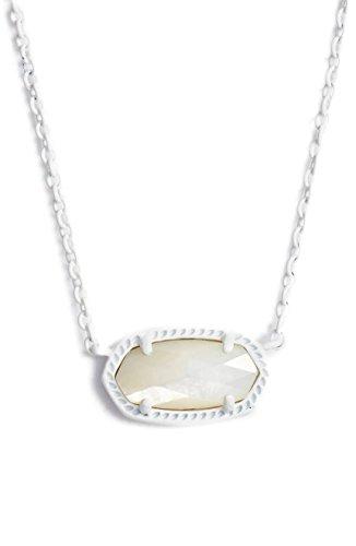 VintFlea Kendra Scott Signature Elisa - Collar con Colgante, Color Blanco Mate
