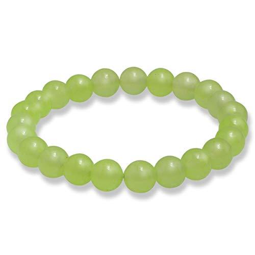 Braccialetti di Beads Bracciale Pietre Naturali Perle Bracciali Pietra Lavica Bangles Bracciale Alabastro ( Color : Grape Green , Size : One Size )