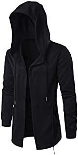 Norfolk Cotton Midi Length Black Jacket For Men Size : XL
