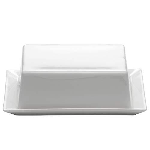 Maxwell & Williams Kitchen Butterdose, Porzellan, Weiß, 16 x 13 x 5 cm