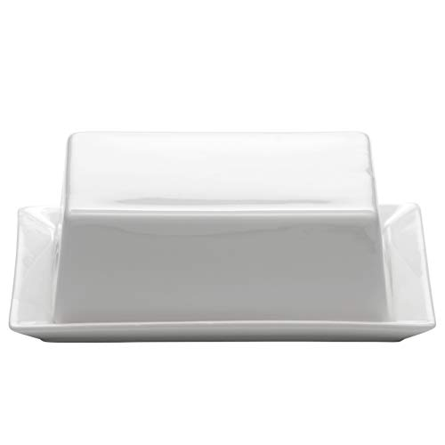 Maxwell & Williams Kitchen Butterdose, Porzellan, Weiß, 16 x 13 x 5 cm