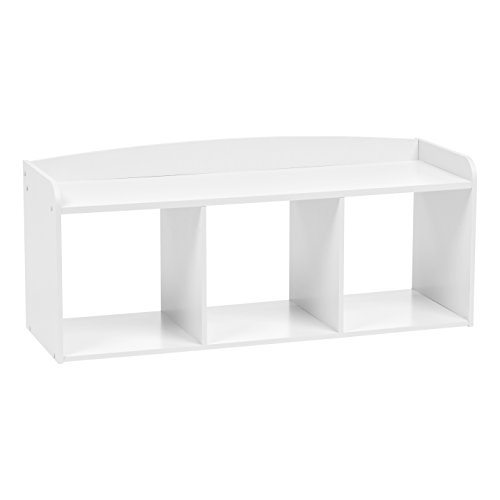 IRIS USA, Inc. KBN-3 Kid's Wooden Storage Bench, White