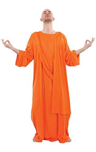 ORION COSTUMES Herren Orange Buddhistisches Mönchsgewand Religiöses Maskenkostüm