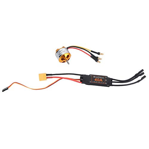 Jeanoko RC Motor ESC Set Light Weight RC Drone ESC 2212 KV1400 Motor Low Noise Smooth Operation for Helicopters