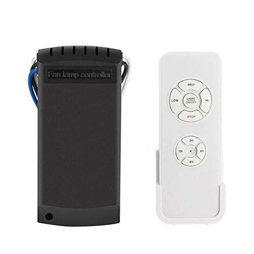 Hihey Universal Interruptor Remoto de luz de Ventilador para Ventilador de Techo Velocidad de la lámpara Control Remoto inalámbrico Control de Velocidad