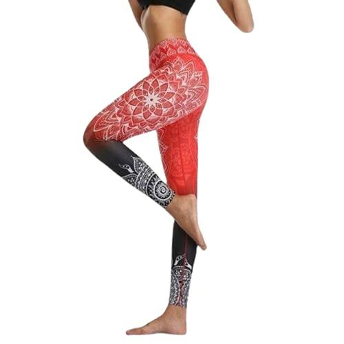 QTJY Moda para Mujer Pantalones de Yoga Leggings Delgados de Cintura Alta con Textura Fitness Correr Gimnasio Flexiones Celulitis Pantalones Deportivos C S