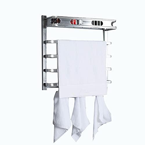 GXFWJD Radiador Toallero Radiadores Toalleros De Agua Caliente Calefaccion Secatoallas De Baño con Toallero Eléctrico Seca Y Calienta Toallas Acero Inoxidable (Color : Silver)