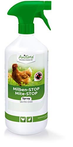 AniForte Anti Mite Spray 1 Litre pour Poulets e Volaille e Oiseaux, Anti acarien d'oiseau Rouge, Anti-Parasite, Contre la Vermine, Terre de Diatomée