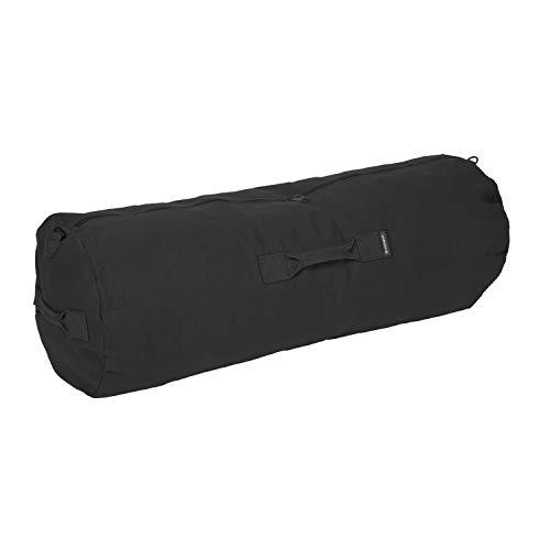 "Stansport Duffel Bag with Zipper, Black, 36"" x 13"" x 13"""