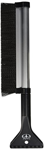 Extendable Telescoping Snow Brush - Ice Scraper for Car, Retracts from 24' to 17' for Easy Storage -...