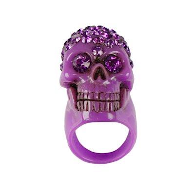 Anello Kreepsville 666 DIAMONTE SKULL COLLECTION purple S