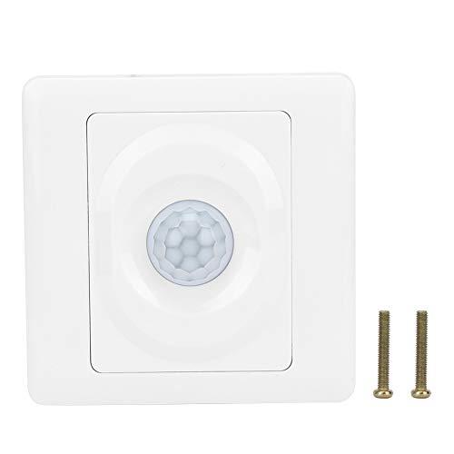 Interruptor del sensor de movimiento del cuerpo, interruptor del sensor de movimiento del cuerpo infrarrojo del sensor de movimiento ABS AC180-250V para el hogar