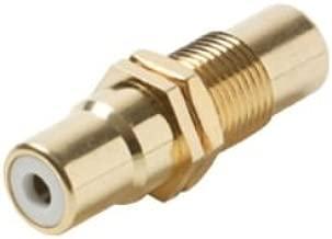 C&E CNE53760 RCA Jack to RCA Jack Panel Mount Adapter Insulator, White