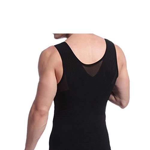 Gilet dimagrante da uomo Shapewear Fitness Body Shaper intimo pancia addominale in vita Trimmer canotte, Nero , L