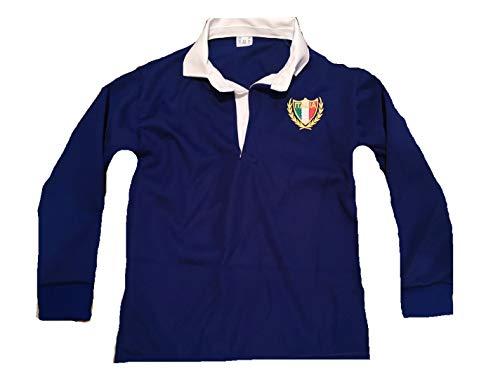 Italia Italiana Rugby Camicie Manica Completa Esclusiva Neonati Bambini Neonati 0-3 Mesi A 13-14 Anni (1-2 Anni) Royal