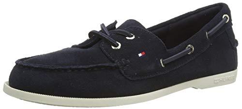 Tommy Hilfiger Damen Classic Suede Boat Shoe Pumps, Blau (Desert Sky Dw5), 41 EU