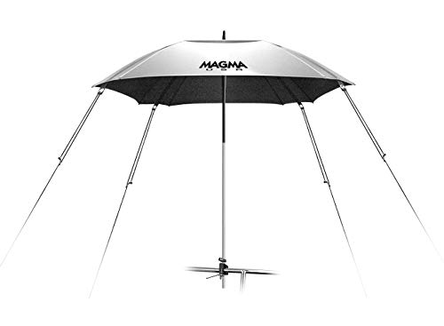 "Magma Products Umbrella, Boat, Rail Mounted, 100% UV, Silver, 1-1/2"" Round Rail, One Size"