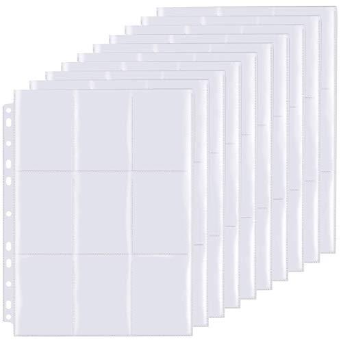 SUPRBIRD Raccoglitore Carte - Card Binder 50 Pagine,Maximum 450 Cards per Carte da Gioco Collezionabili,Trasparente con Aperture Superiori e Inferiori