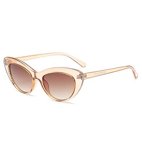 Gafas De Sol De Ojo De Gato Vintage para Mujer, Gafas De Sol De Ojo De Gato Pequeñas Retro Sexis, Gafas De Diseñador De Marca con Diamantes De Imitación para Mujer C04