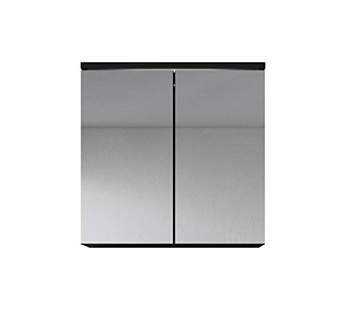 Spiegelkast Toledo 60cm zwart - kast spiegelkast spiegel badkamer badkamermeubel