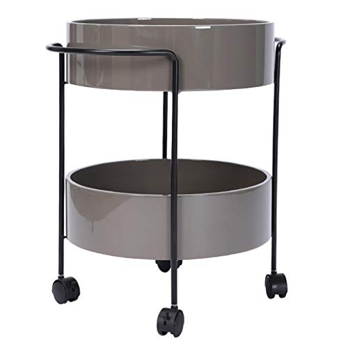 Kitchen Rack Shelves Tea Trolley Bedroom Movable Side Table Home Small Apartment Coffee Table Seating Area Table Tea Table Easy to Move Best Gift (Color : Gray, Size : 45.561cm)
