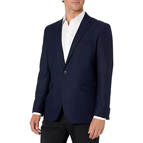 Van Heusen Men's Modern Slim Fit Flex Stretch Suit, Bright Navy, 44 Regular