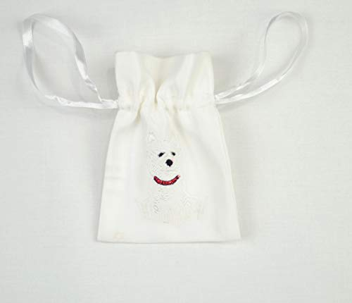 Gift Bag in a Westie Dog Design. Beautifully embroidered Gift Bags, ideal for seasonal festivals, special occasions, events and celebrations.