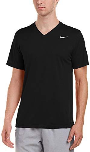 Nike Legend 2.0T-Shirt Manches Courtes pour Homme, col en V Taille XXL Noir - Noir/Argent Mat