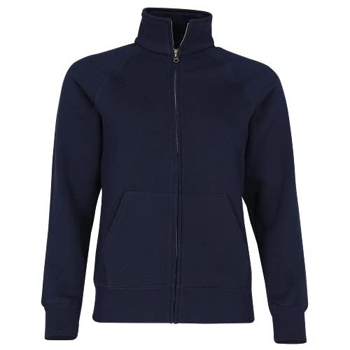 Premium Sweatjacke Lady-Fit - Farbe: Deep Navy - Größe: L