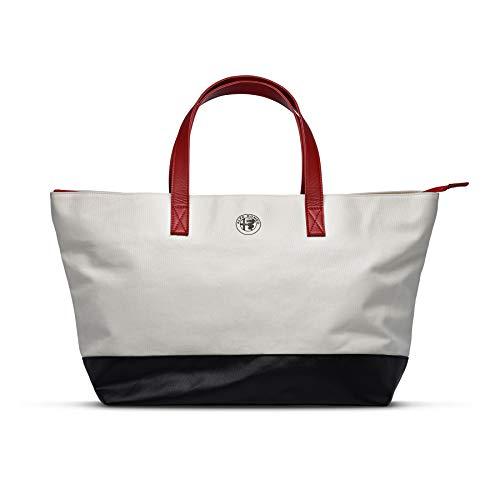 FCA 6002350680 - Bolsa deportiva de tela Alfa Romeo de color blanco...