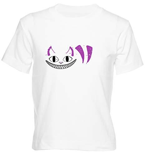 Lächelnd Katze Camiseta Niño Niña Niños Blanco T-Shirt Boys Girls Kids White