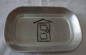 "Arthur Court Engravable ""New Home"" House with Heart Bread / Toaster Tray - Benefits Hearth of Pittsburgh"