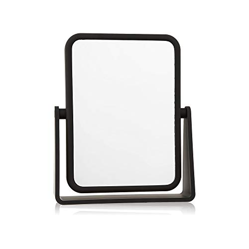 Soft Touch Rectangular Mirror by Danielle with 7X Magnification - Matte Black
