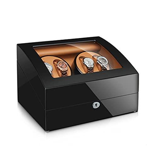LSRRYD Caja Automática De Reloj Caja De Exhibición Caja De Almacenamiento para 4+6 Reloj De Pulsera con Motor Mabuchi Silencioso Y 4 Modos Aspecto De La Pintura del Piano (Color : B, Size : 4+6)