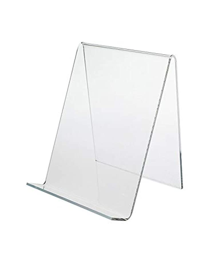 Source One 4-Inch Mini Clear Acrylic Easel Artwork Stand Small - 6 Piece Set (S1-6P-Mini-Easel)
