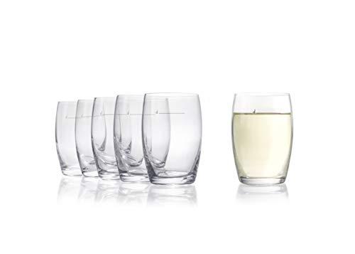 """Stölzle Lausitz """"The New ⅛"""" Hausweinglas weiß 173 ml I Weißweinglas 6er Set I Weingläser ohne Stiel spülmaschinenfest I Weißweinbecher Set bruchsicher I wie mundgeblasen I höchste Qualität"""