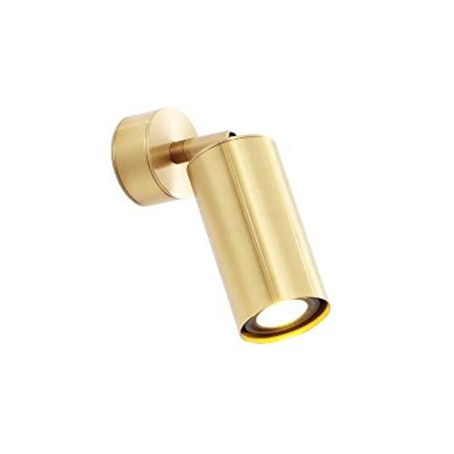 Draaibare wandlamp, E27 industriële wandlamp, goudmessing, wandlampen, woonkamer, kast, spiegelverlichting