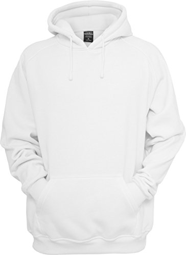 Urban Classics Herren Kapuzenpullover Blank Hoodie, Farbe white, Größe S